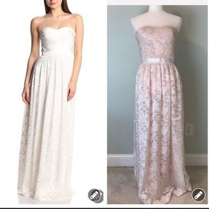 Erin Fetherston blush ivory lace maxi gown #3190